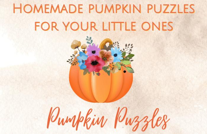 Homemade pumpkin puzzles
