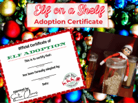 Elf Adoption Certificate {Elf on a Shelf Printable}....