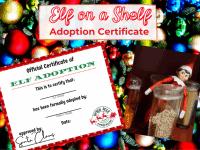 Elf Adoption Certificate {Elf on a Shelf Printable}....