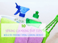 10 Spring Cleaning Top Tips (with a free printable Spring Cleaning checklist)....