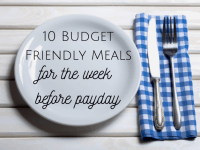 Ten budget family meals for the week before payday....