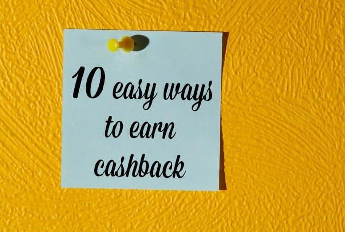 10 easy ways to earn cashback....