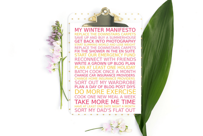 my winter manifesto
