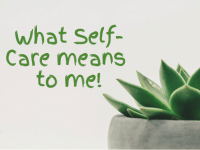 What Self-Care means to me....