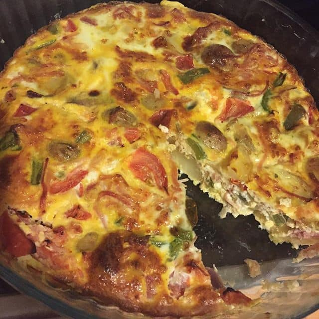 Slimming World Quiche made with leftovers