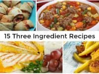 15 Three Ingredient Recipes....