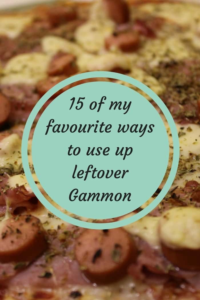 15 of my favourite ways to use up leftover Gammon.... #mealplanning