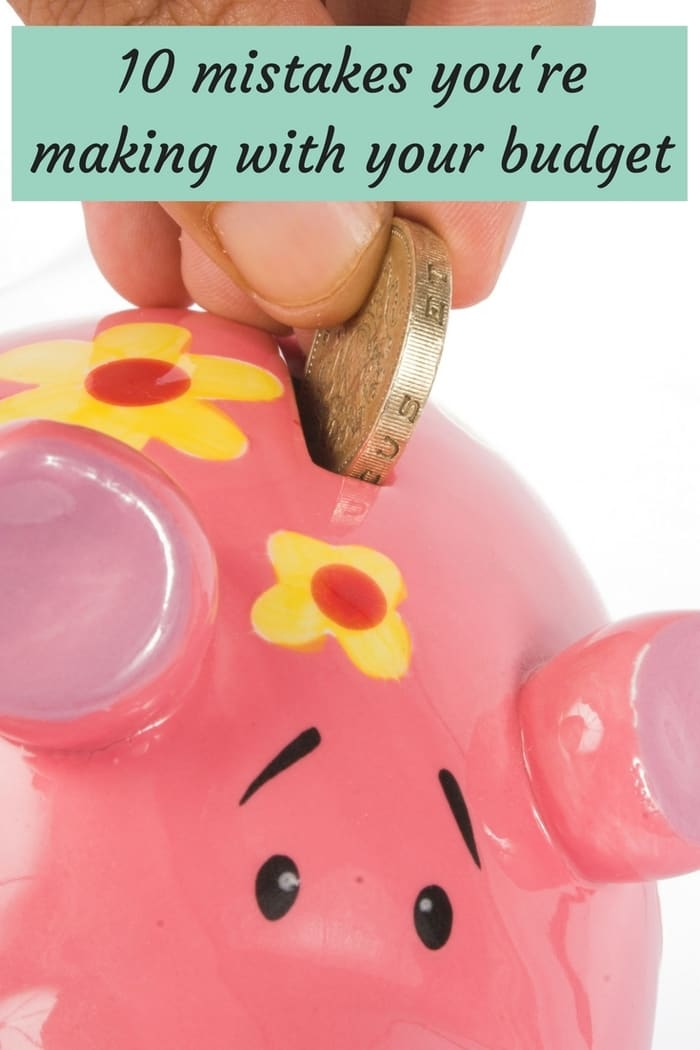 10 mistakes you could be making with your monthly budget....