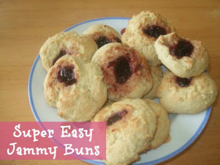 super easy jammy buns