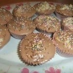 Chocolate Cupcakes with Nutella Frosting….