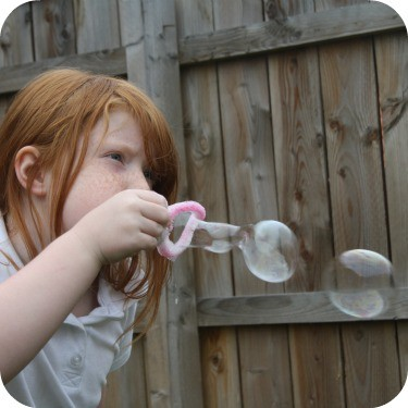 bubbles in the garden