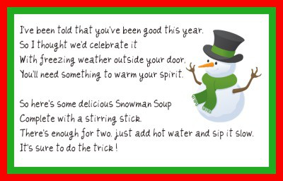 How to make snowman soup