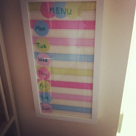 wall meal planner