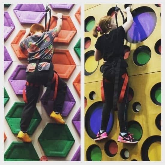 Day 2 - shopping, clip n climb and tea out!