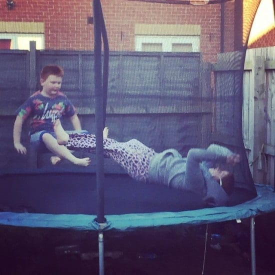 Whenever they argue I send them to the trampoline - it's impossible for them to stay annoyed at each other on there.