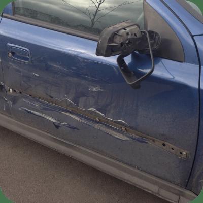 battered car