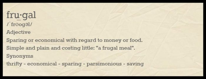 meaning of frugal