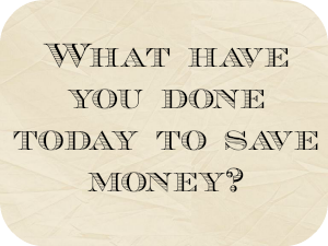 Thrifty Thursday – Five frugal things I've done this week….