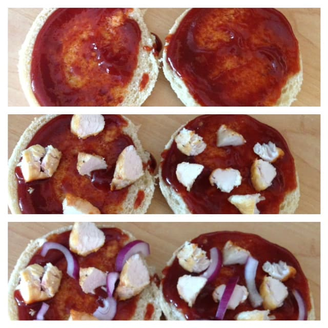 turkey and red onion barbecue pizza