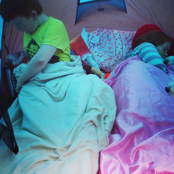 camp out