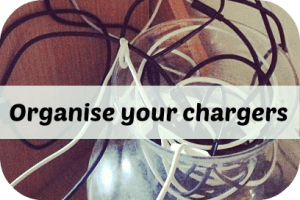 organise phone chargers