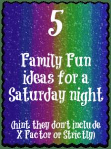 saturday night ideas