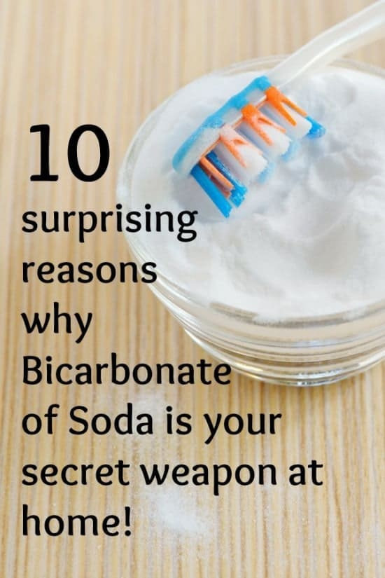 10 reasons why Bicarbonate of Soda is your secret weapon at home!