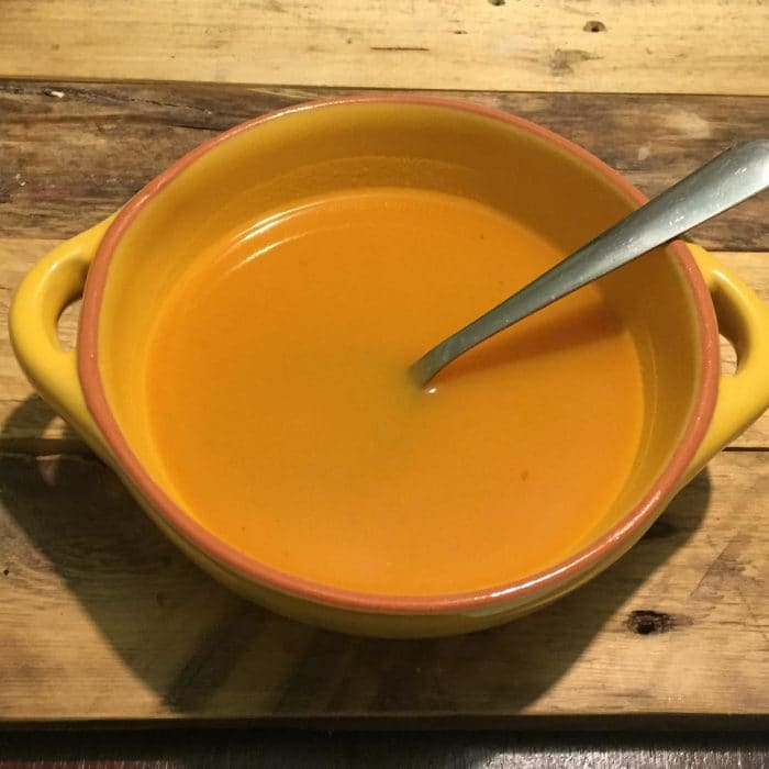 Homemade Spicy Butternut Squash and Sweet Potato soup