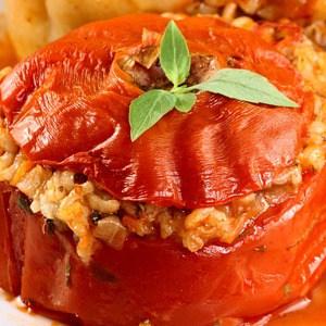 Risotto Stuffed Tomato