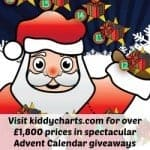 Get some extra presents under the tree for free with the £1,900 KiddyCharts advent calendar giveaway….