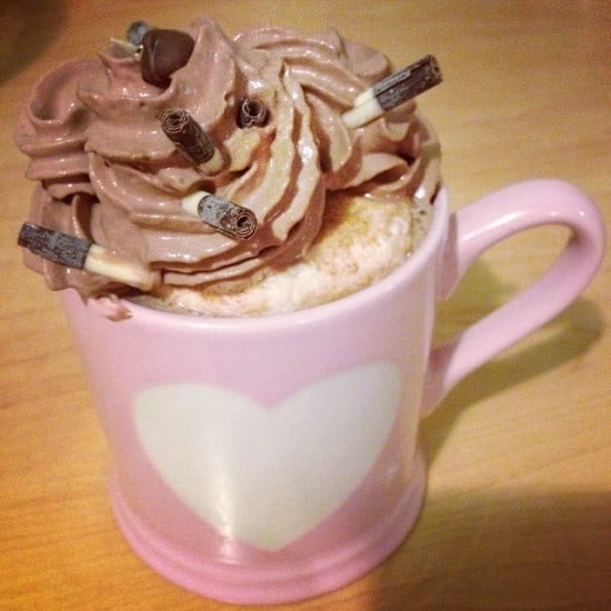 3. Going for nice long walks with the dog in the Winter and coming home to hot chocolate.