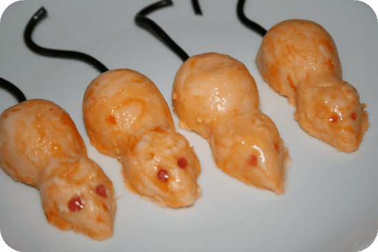 Scary sugar mice