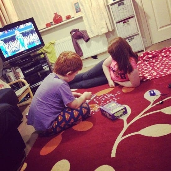 Doing 'the hardest jigsaw ever' together