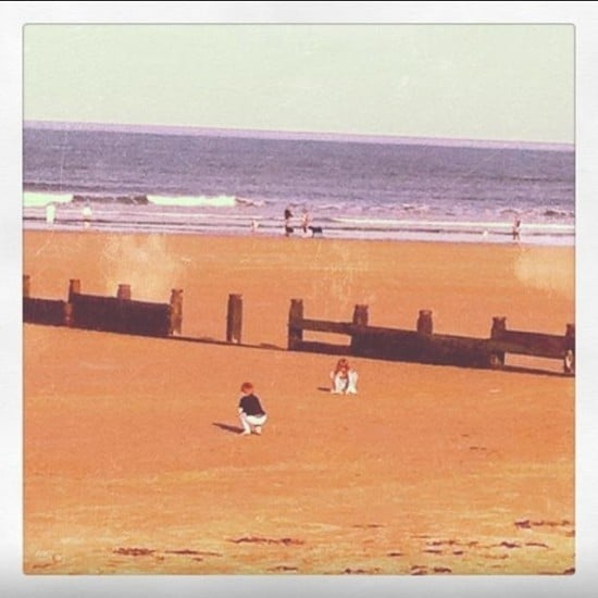 Clearly not from this month but one of my favourite photos ever of them playing together on the beach a few years ago