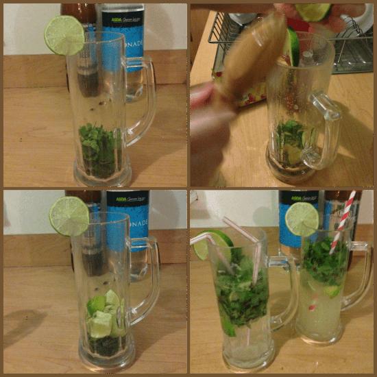 make non alcoholic mojitos