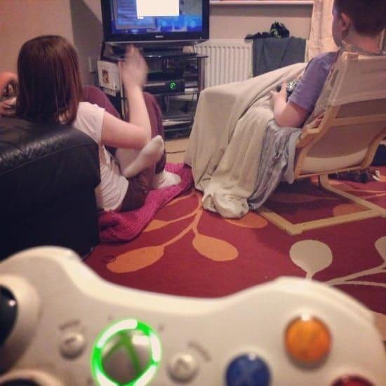 Family Xbox and WiiU night.