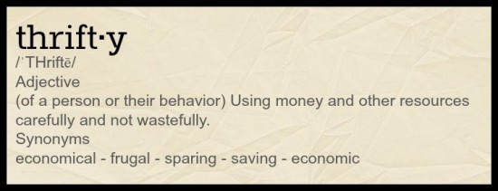 the meaning of thrifty