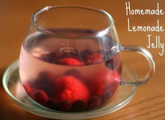 Homemade lemonade jelly