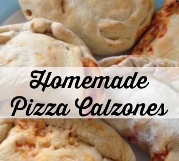 1 homemade pizza calzones