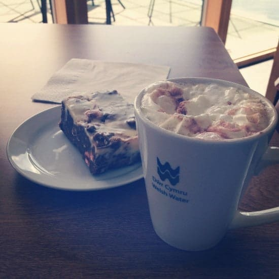 Reason number 3 why it's great to travel with kids - Cake and hot chocolate are always appropriate.