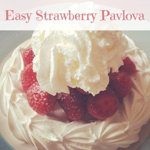 Cooking with kids - easy strawberry pavlova