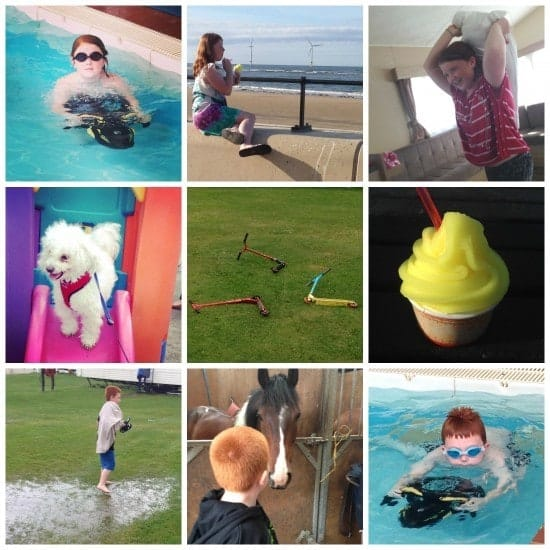 We've enjoyed.... Pillow fights, ice creams, playing on scooters, riding horses and walking through flooded fields in our swimming stuff (don't ask!)