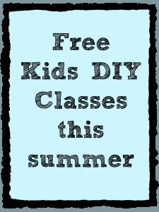 free kids diy class