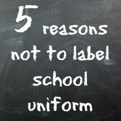 5 reasons not to label school uniform