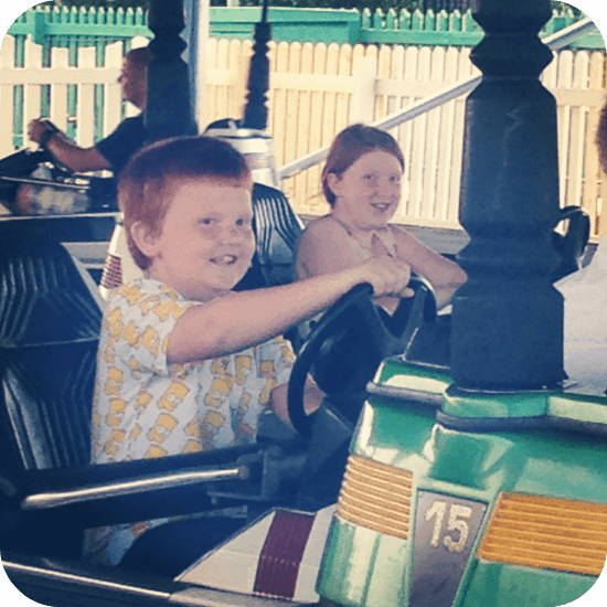 Dodging each other on the dodgems