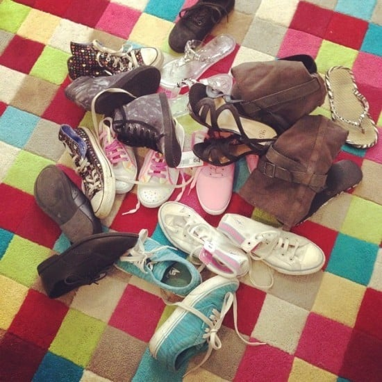 how to organise your shoe collection