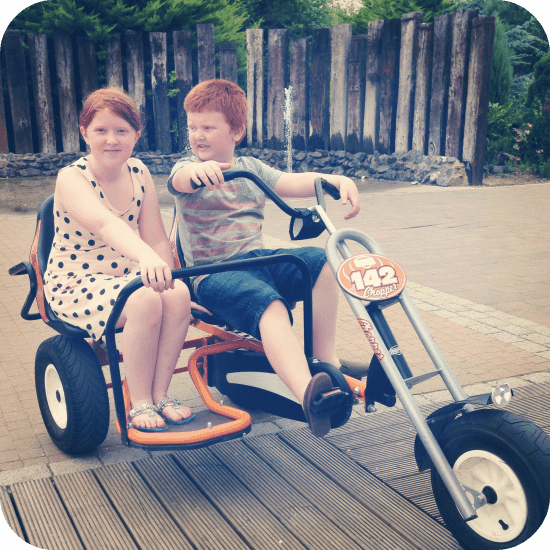 Exploring Butlins on the go-karts