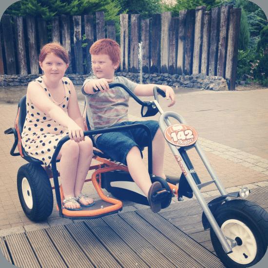 Exploring Butlins on the go-karts