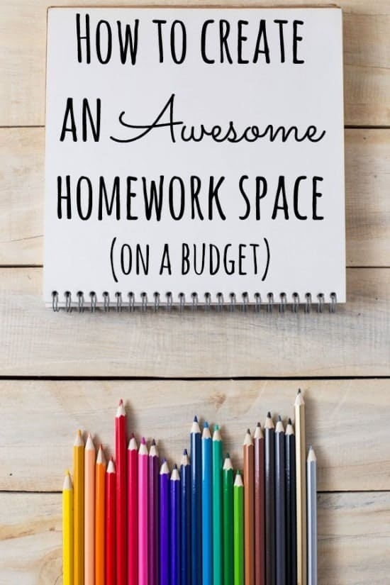 How to create an Awesome homework space (on a budget)