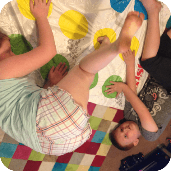 Playing Twister (not very well)